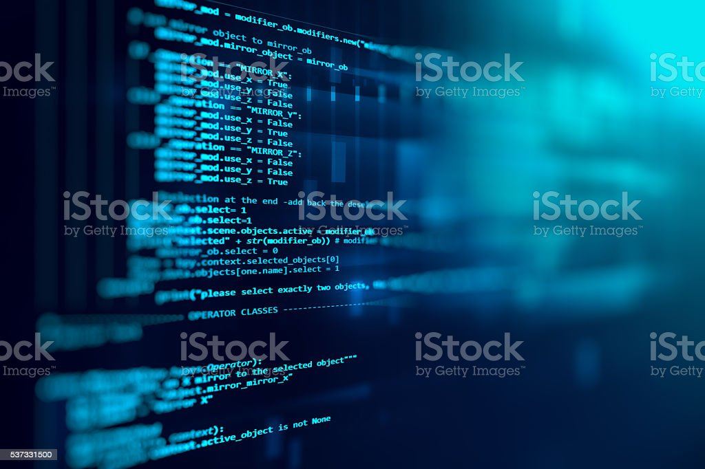 Programming code abstract technology background of software developer...