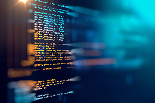 istock Programming code abstract technology background of software deve 537331536