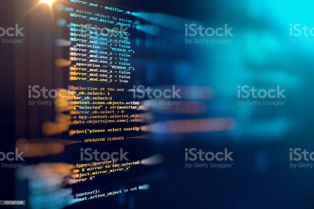 Programming code abstract technology background of software deve stok fotoğrafı