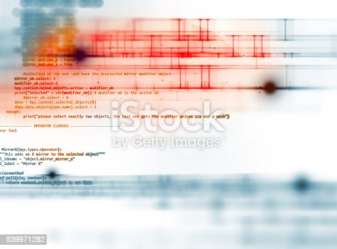 istock Programming code abstract technology background of software deve 539971282