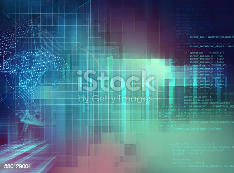 istock Programming code abstract technology background of software deve 580129004