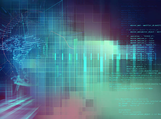Programming code abstract technology background of software deve stock photo