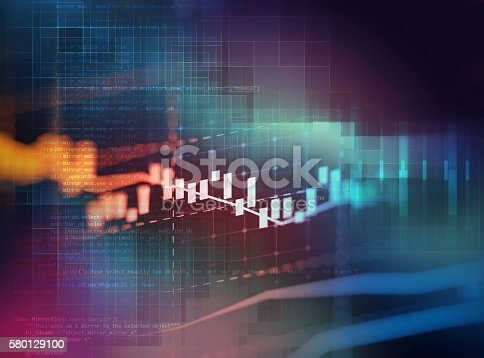 istock Programming code abstract technology background of software deve 580129100