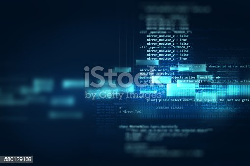 istock Programming code abstract technology background of software deve 580129136