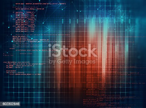 istock Programming code abstract technology background of software deve 602302646