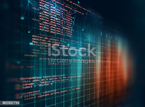 istock Programming code abstract technology background of software deve 602302734