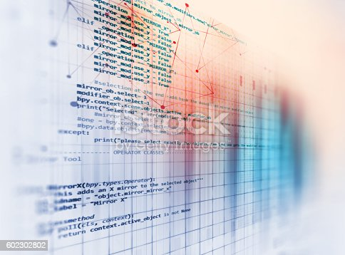 istock Programming code abstract technology background of software deve 602302802
