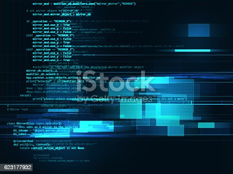 istock Programming code abstract technology background of software deve 623177932