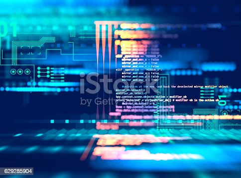 istock Programming code abstract technology background of software deve 629285904