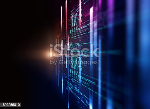 istock Programming code abstract technology background of software deve 629286010