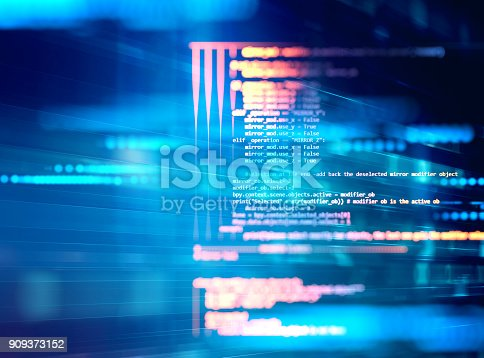 istock Programming code abstract technology background of software deve 909373152