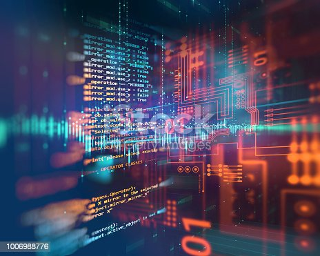istock Programming code abstract technology background of software developer and  Computer script 1006988776