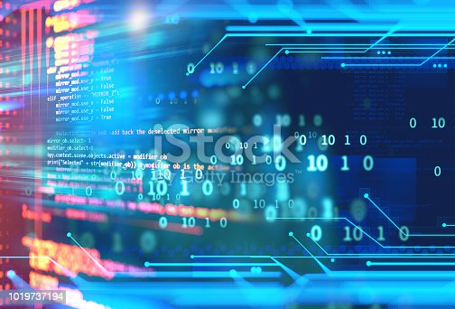istock Programming code abstract technology background of software developer and  Computer script 1019737194