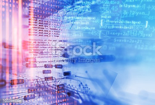 istock Programming code abstract technology background of software developer and  Computer script 1022590394