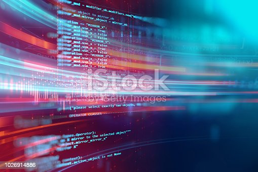 Programming code abstract technology background of software developer and  Computer script
