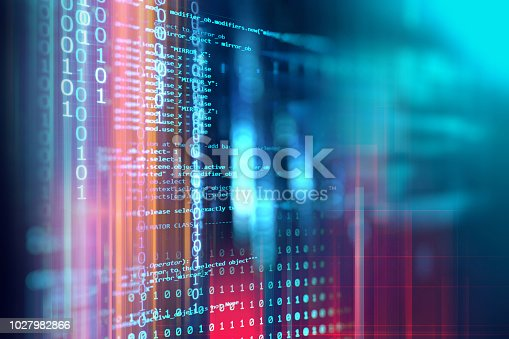 istock Programming code abstract technology background of software developer and  Computer script 1027982866