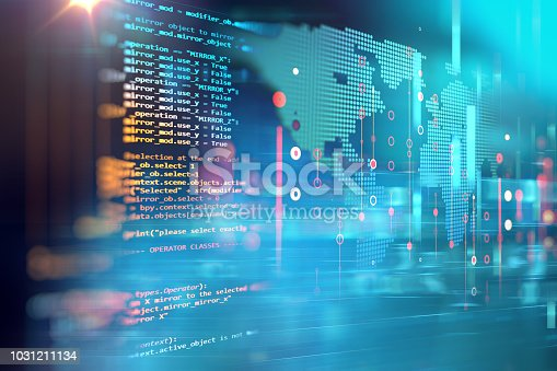 istock Programming code abstract technology background of software developer and  Computer script 1031211134