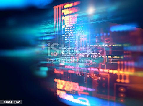 istock Programming code abstract technology background of software developer and  Computer script 1039368494