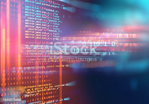 istock Programming code abstract technology background of software developer and  Computer script 1044575466