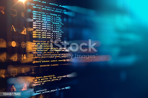 istock Programming code abstract technology background of software developer and  Computer script 1044577542