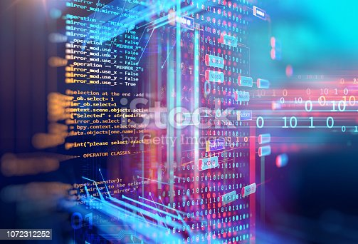 istock Programming code abstract technology background of software developer and  Computer script 1072312252