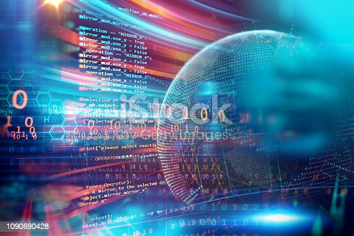 istock Programming code abstract technology background of software developer and  Computer script 1090690428