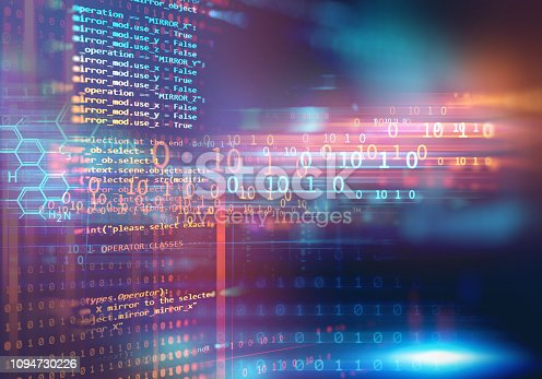 istock Programming code abstract technology background of software developer and  Computer script 1094730226
