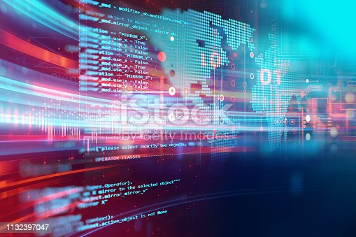 istock Programming code abstract technology background of software developer and  Computer script 1132397047