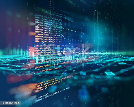 istock Programming code abstract technology background of software developer and  Computer script 1133481809