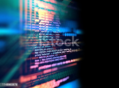 istock Programming code abstract technology background of software developer and  Computer script 1148960878