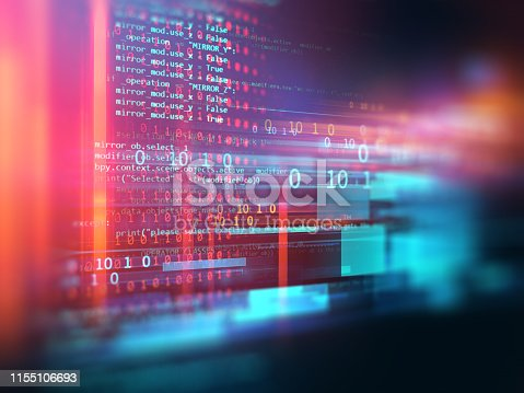 537331536 istock photo Programming code abstract technology background of software developer and  Computer script 1155106693