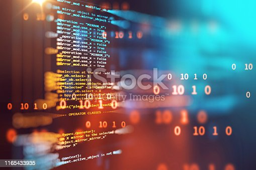 537331536 istock photo Programming code abstract technology background of software developer and  Computer script 1165433935