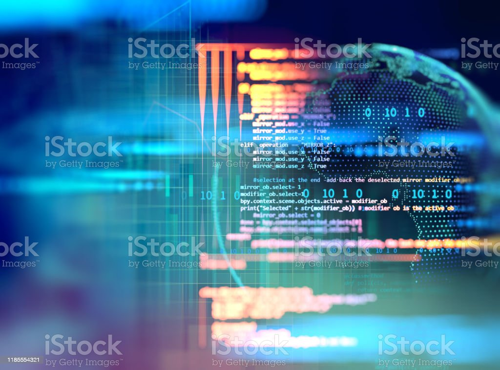 Programming code abstract technology background of software developer and  Computer script - Royalty-free Abstrato Foto de stock