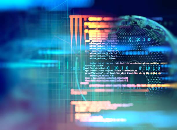 программирование кода абстрактный технологический фон разработчика программного обеспечения и компьютерного скрипта - технологии стоковые фото и изображения