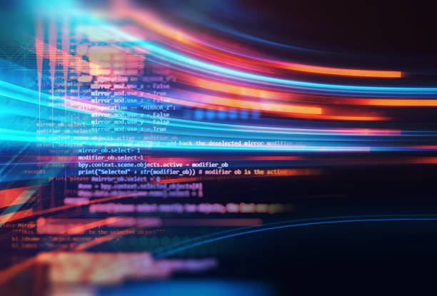 Programming code abstract technology background of software developer and  Computer script .3d illustration stock photo