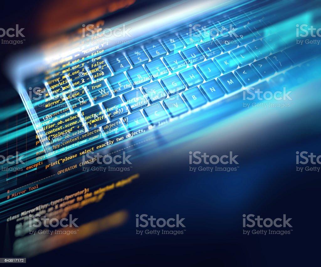 Código de programación tecnología abstracta fondo de desarrollador de software - foto de stock