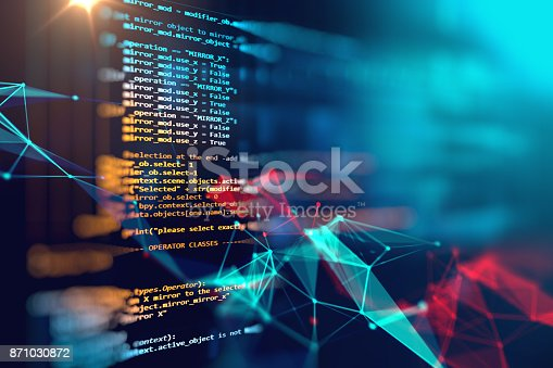 istock Programming code abstract technology background of software developer 871030872