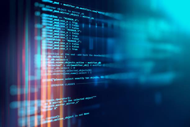 ソフトウェア開発者のプログラミング コードの抽象的な技術の背景 - code ストックフォトと画像