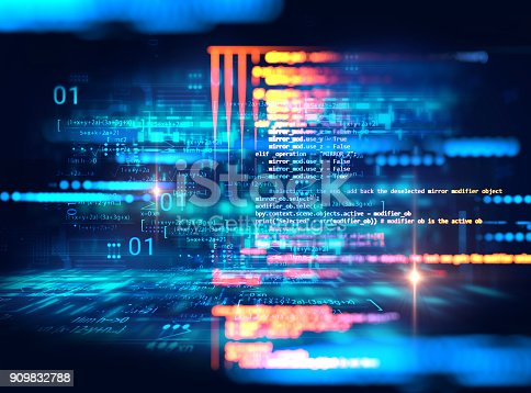 537331500istockphoto Programming code abstract technology background of software developer and  Computer script 909832788