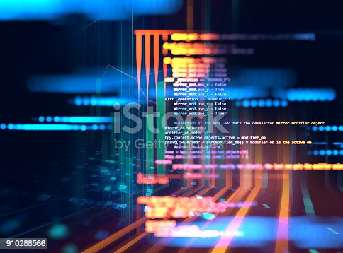 istock Programming code abstract technology background of software developer and  Computer script 910288566