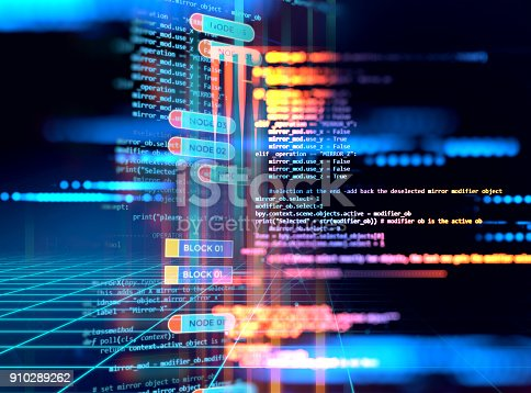 istock Programming code abstract technology background of software developer and  Computer script 910289262
