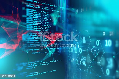 istock Programming code abstract technology background of software developer and  Computer script 914719348