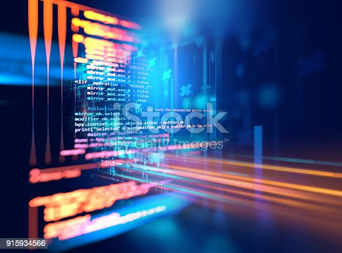 istock Programming code abstract technology background of software developer and  Computer script 915934566