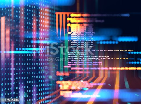 istock Programming code abstract technology background of software developer and  Computer script 917505434