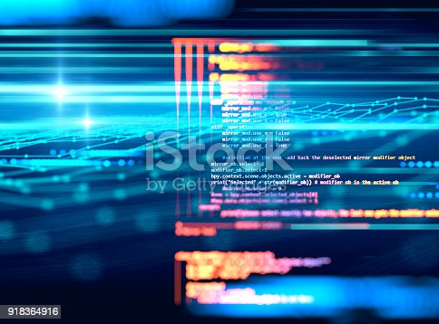 istock Programming code abstract technology background of software developer and  Computer script 918364916