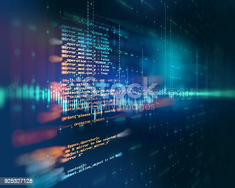 istock Programming code abstract technology background of software developer and  Computer script 925327128