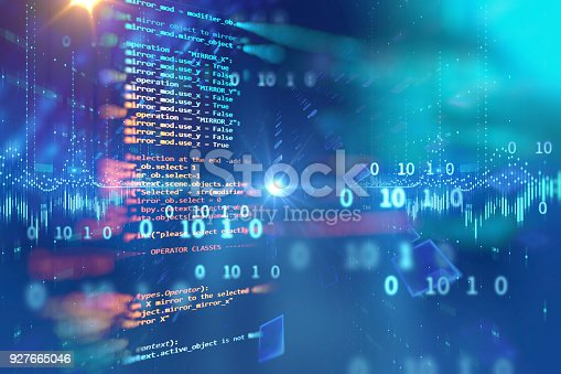 istock Programming code abstract technology background of software developer and  Computer script 927665046