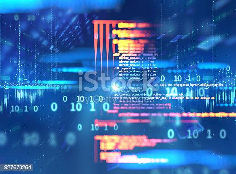 istock Programming code abstract technology background of software developer and  Computer script 927670264