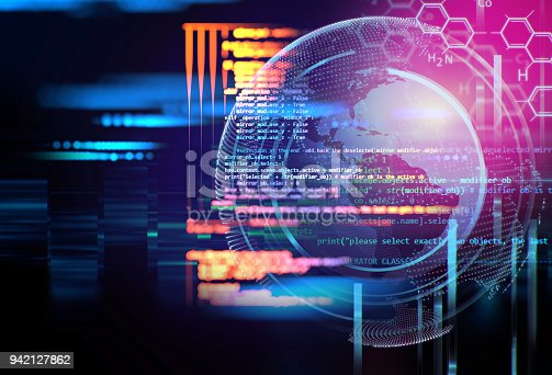 istock Programming code abstract technology background of software developer and  Computer script 942127862