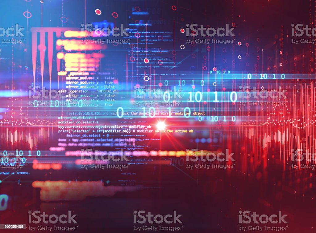 Programming code abstract technology background of software developer and  Computer script zbiór zdjęć royalty-free